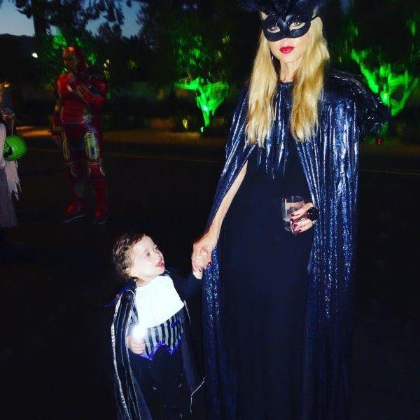 Rachel Zoe and her son Kaius as vampires