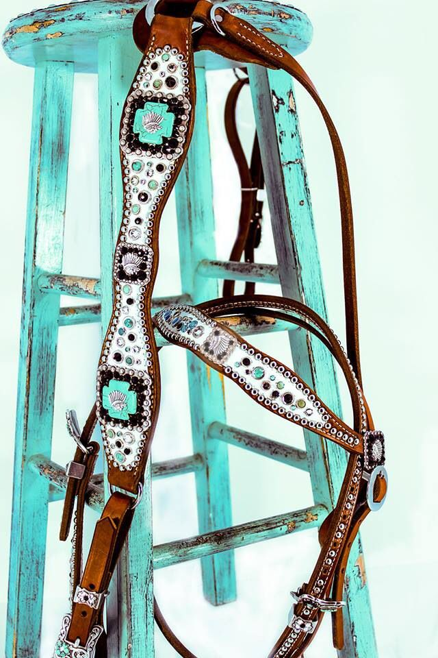 White and turquoise bling!!!