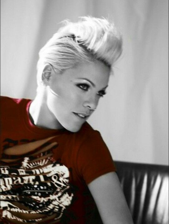 Gorgeous Alecia Beth Moore...Love her! #pink #p!nk she was thee original who rocked this hairstyle way before others like Miley..love her originality and she's never ever changed her style More