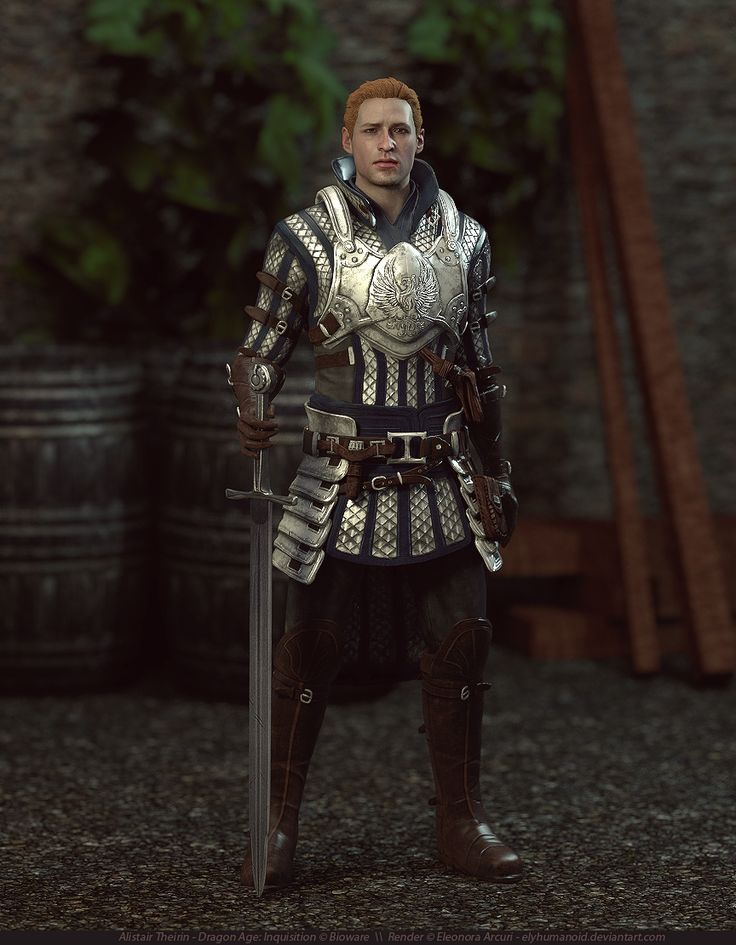 "elyhumanoid: "" Alistair Theirin (Grey Warden) by elyhumanoid """