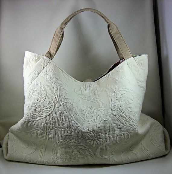 Extra Large Tote Bag Laptop Bag Upholstery Bag Purse with Pockets Custom Made Valentine Gifts - OOAK