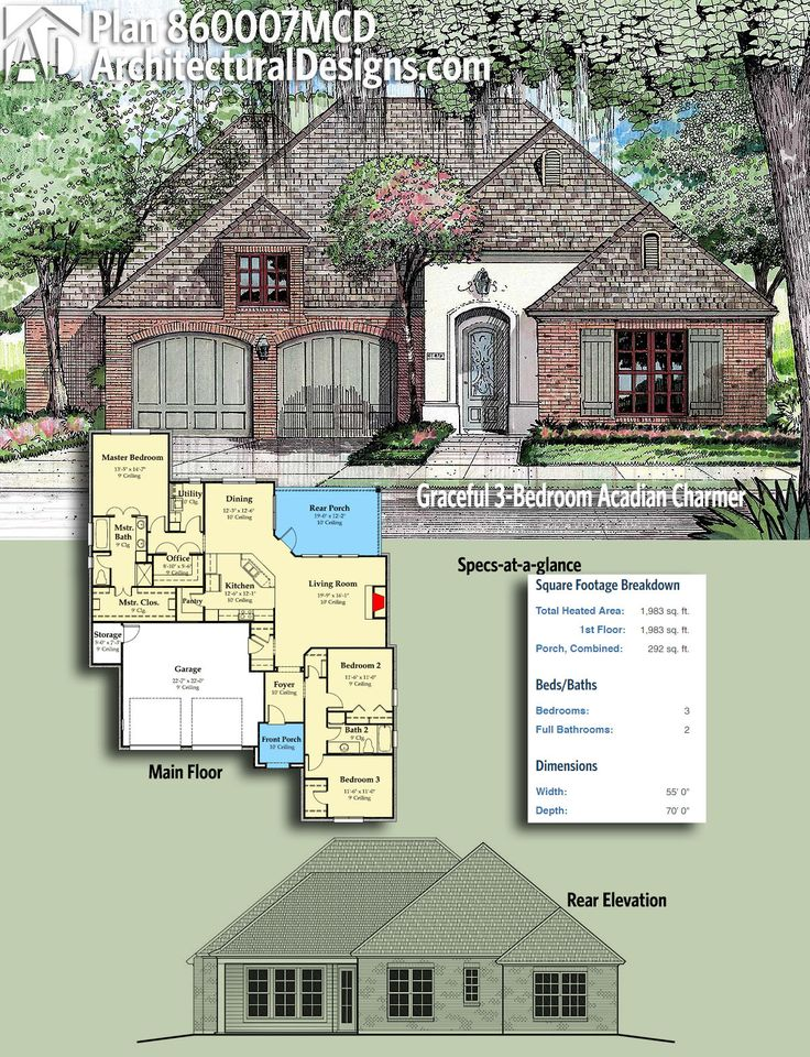 139 best acadian style house plans images on pinterest for 2 story acadian house plans