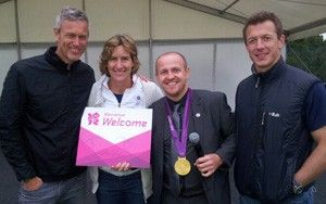 Mark Foster and Dame Katherine Grainger in 2012