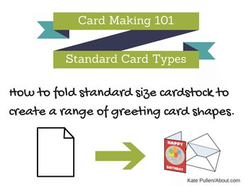 Here are some of the most popular standard envelope sizes. This is useful information if you are planning to make your own handmade greeting cards.