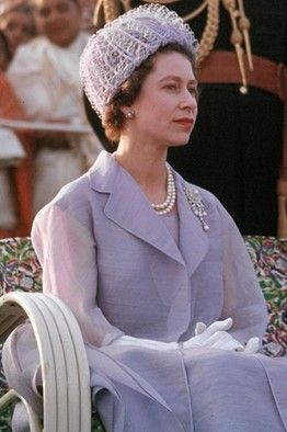 QUEEN ELIZABETH II on a royal tour in India.  (1961)