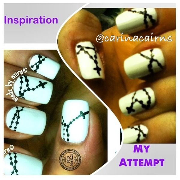 Rosary Nails... I Like!