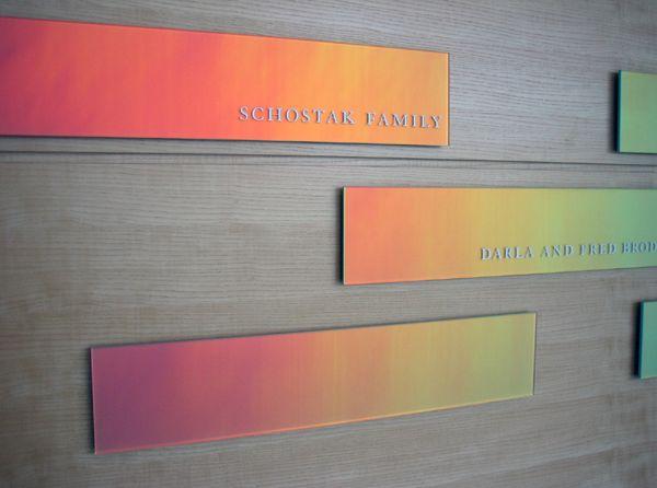 Architectural Donor Walls | Optichroic® Dichroic Glass