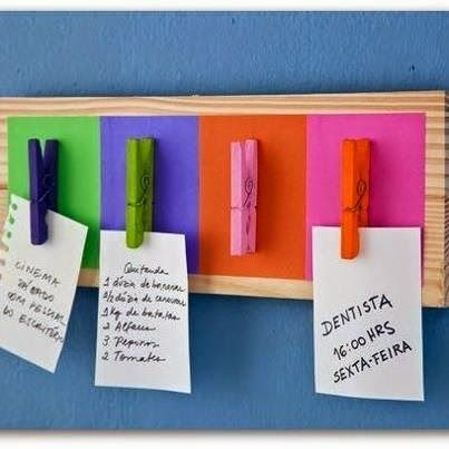 Tableros de notas con pinzas | Manualidades