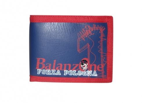 BALANZONE PORTA CD 24 CD  Porta CD in eco-pelle di colore blu con disegno sul fronte dello stemma del Bologna F.C. e scritta Balanzone FORZA BOLOGNA con il numero 1