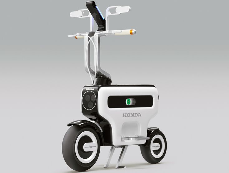tokyo motor show - honda motor compo foldable electric scooter | designboom