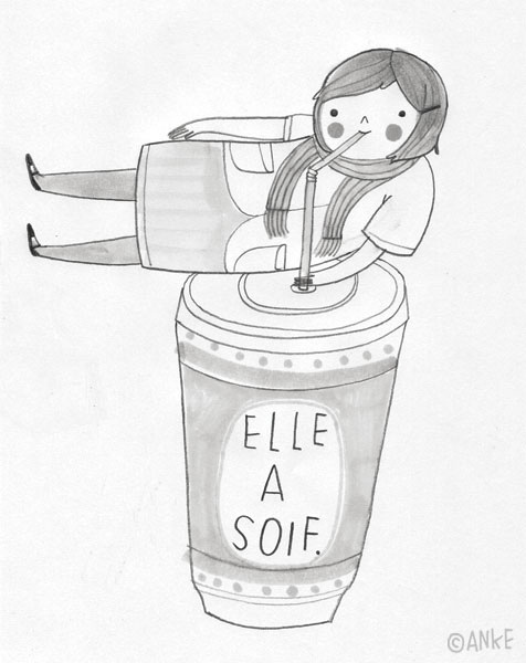 Illustration by Anke Weckmann. From Learning French album on flickr. More at http://www.linotte.net/