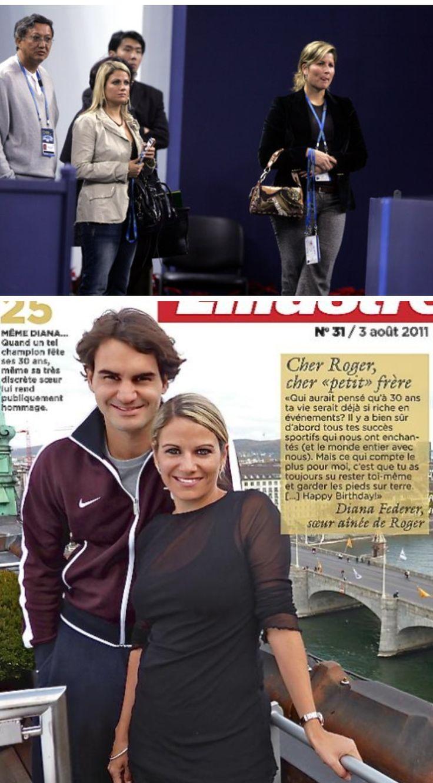 Roger Federer and sister Diana | # 1 ♥ Roger Federer♥Mr ...