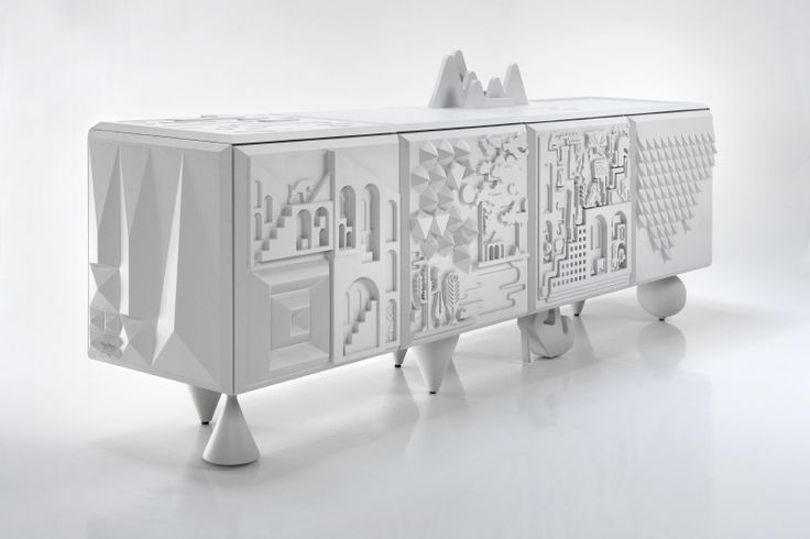 Sideboard, part of a collection from Bd Barcelona that translates mythological themes into three dimensions.