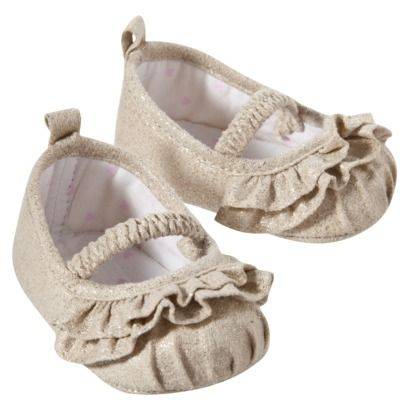 JUST ONE YOU  Made by Carters ® Newborn Girls Ballet Shoe - Tan Newborn.Opens in a new window