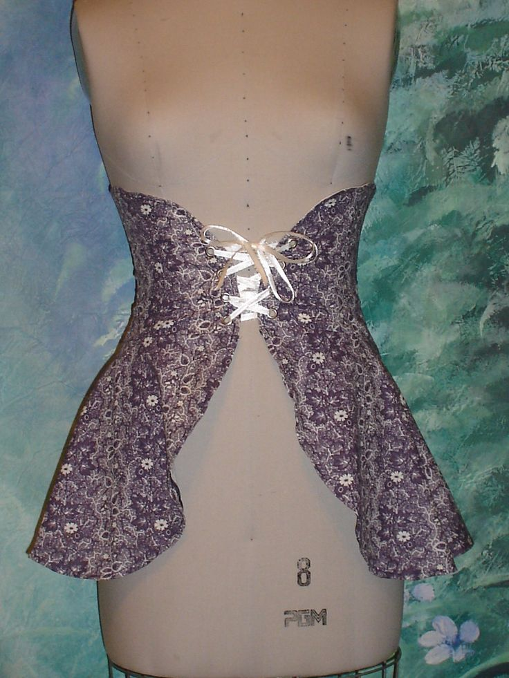 DIY Lolita Gothic Purple Corset Waist Cincher Skirt Medium. $15.00, via Etsy.