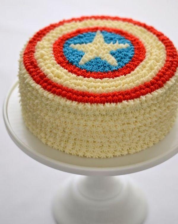 Decoração de festa tema Capitão América...Captain America Birthday Party Ideas...Avengers Party..Cake...Bolo Decorado