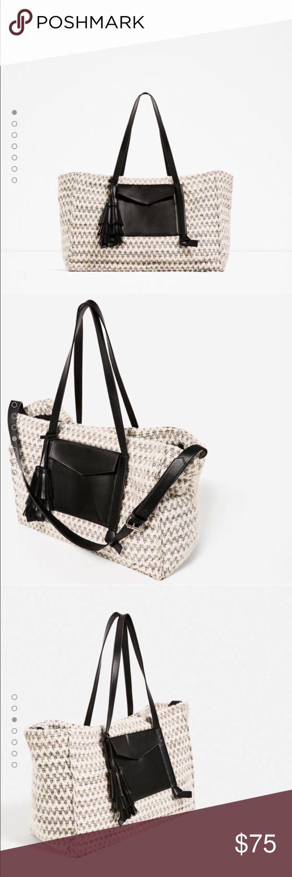 Zara tote bag ☁️ Super Soft ☁️ NWT Super Soft Tote Bag. Zara Bags Totes
