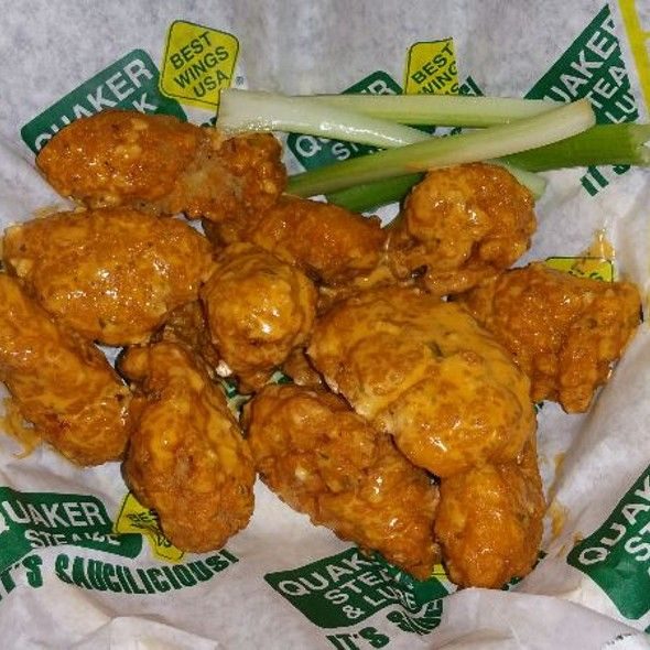 GOLDEN GARLIC CHICKEN WINGS   Quaker Steak & Lube Restaurant Recipe      1 family pack chicken wings   ranch dressing or a batch or two...