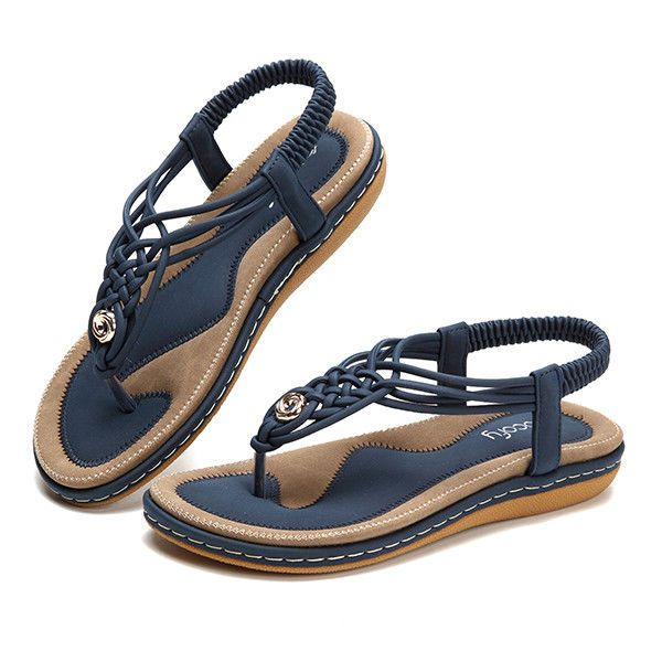 SOCOFY  Women Knitted Casual Soft Sole Outdoor Beach Sandals US Size 5-10 #socofy #Comfort #Casual
