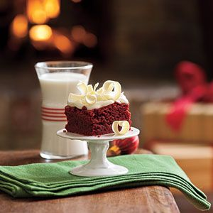 Chewy red velvet brownies with cream cheese frosting....if only i liked chocolate {sigh}