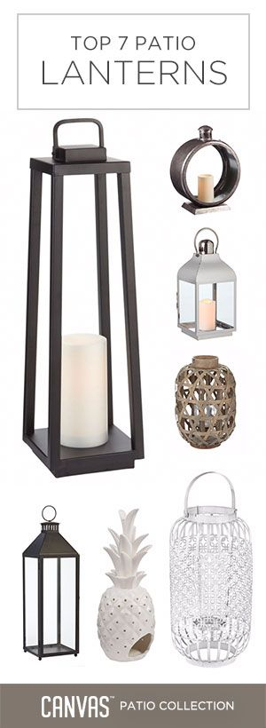 Add some ambiance to your patio with any of these trendy lanterns! #MyCANVASstyle