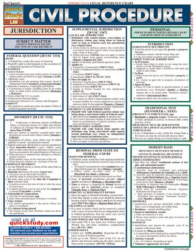 Civil Procedure Study Aids | William & Mary Law School