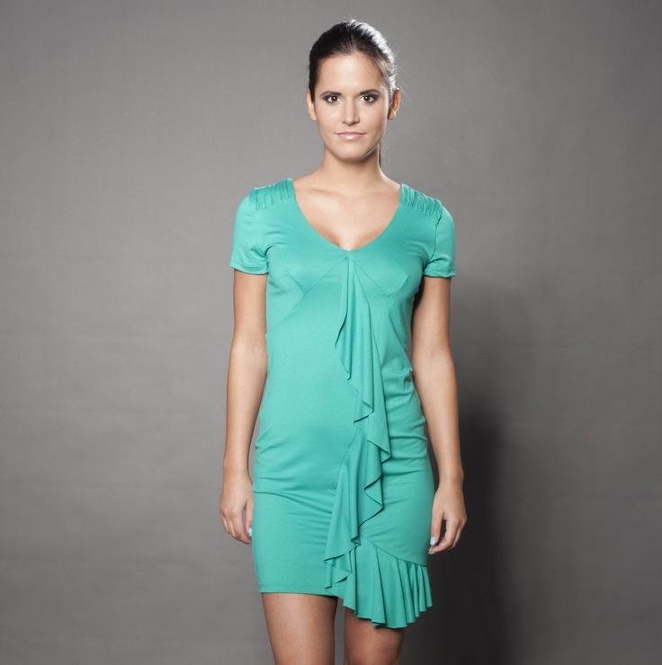 Viscose elastic dress