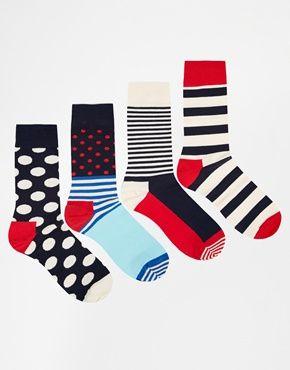 Happy Socks 4 Pack Nautical Gift Socks – TdM's Christmas Gift Guide: Style for Him