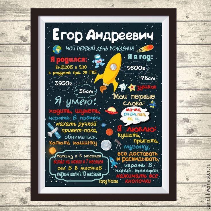 Купить Постер достижений Космос - комбинированный, постер, постер в детскую, постер для детской, постер достижений
