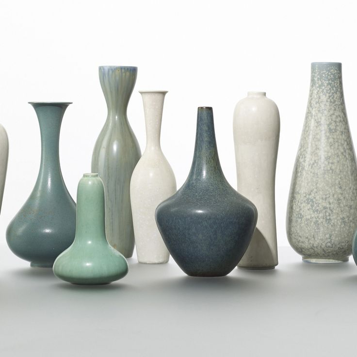 135: Gunnar Nylund / collection of nine vases < Scandinavian Design, 8 May 2014 < Auctions | Wright