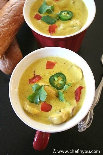 Roasted Jalapeno Soup Recipe this looks easily adaptable - skip oil, butter, and salt. Use beans for thickness.  Plant milk instead of dairy, if any is needed at all.
