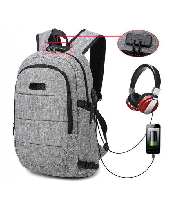 Backpack Business Computer Charging Waterproof - Grey - CF18HZWO54N ... d083f94698c80