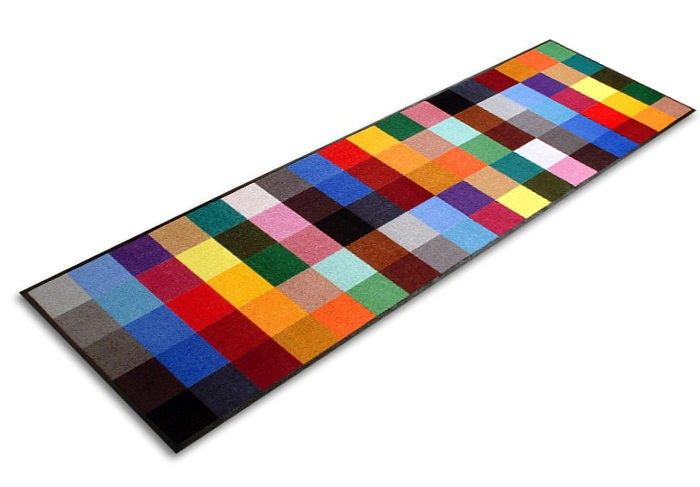 Modern Doormat - Adieu Tristesse - a splash of colour in your doorway Every home can be beautified with a splash of colour, and the Adieu Tristesse modern doormat will brighten any doorway with its rainbow prism of vivid hues. This extraordinary modern doormat is a bright addition to home d