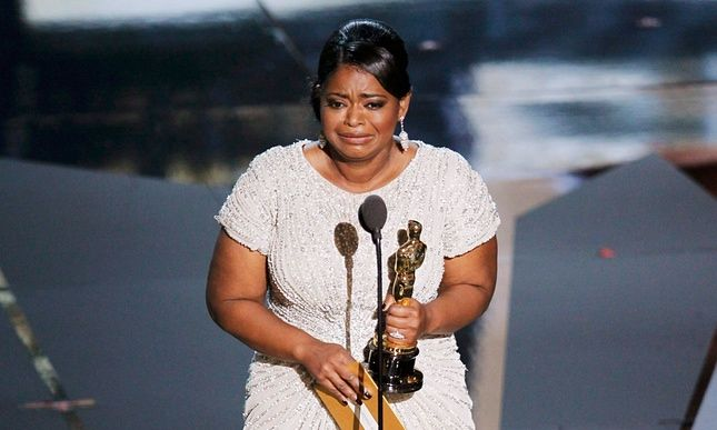 Octavia Spencer with her 2012 best supporting actor Oscar for The Help -  .… actor Tyrese Gibson said Academy members who were only willing to reward actors 'in a slave movie, or as a nanny' should lose voting rights.  In the wake of a furious debate over diversity, after all 20 acting nominations went to white people for the second year running, the Academy will examine whether the number of nominees for each category should be expanded. And it will consider rule changes to increase the