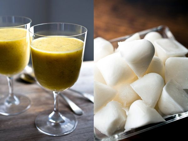 A favorable combination of the sweetness proportions: Coconut Pineapple Pumpkin Seed Smoothie — Recipes for Health - NYTimes.com