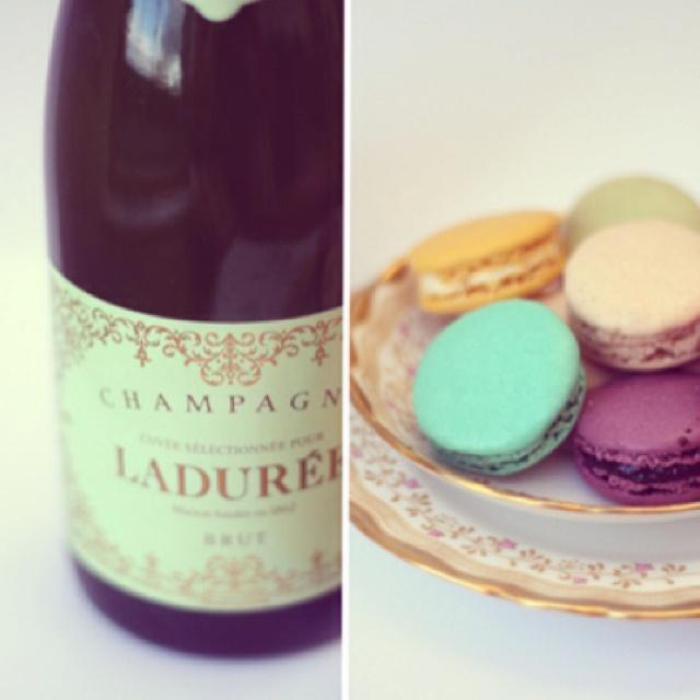 Laduree macaroons and champagneMacaroons Laduree