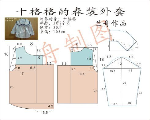 【兰舟作品】十格格的大圆领春装短外套附教程/裁剪图