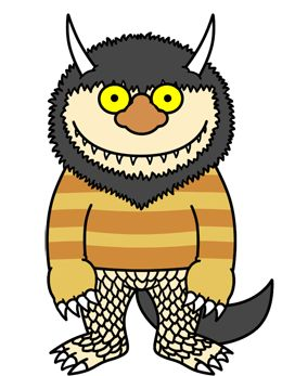 Colored Where the Wild Things Are monster cartoon drawing