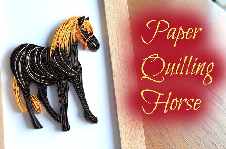 Framed Paper Quilling Horse Design