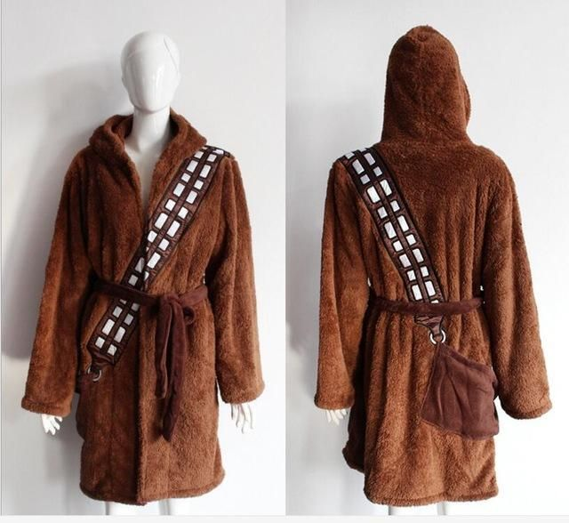 Star Wars Galactic Empire and Jedi Knight 4 stly bathrobes nightwear pajamas coral fleece fabric cosplay costumes