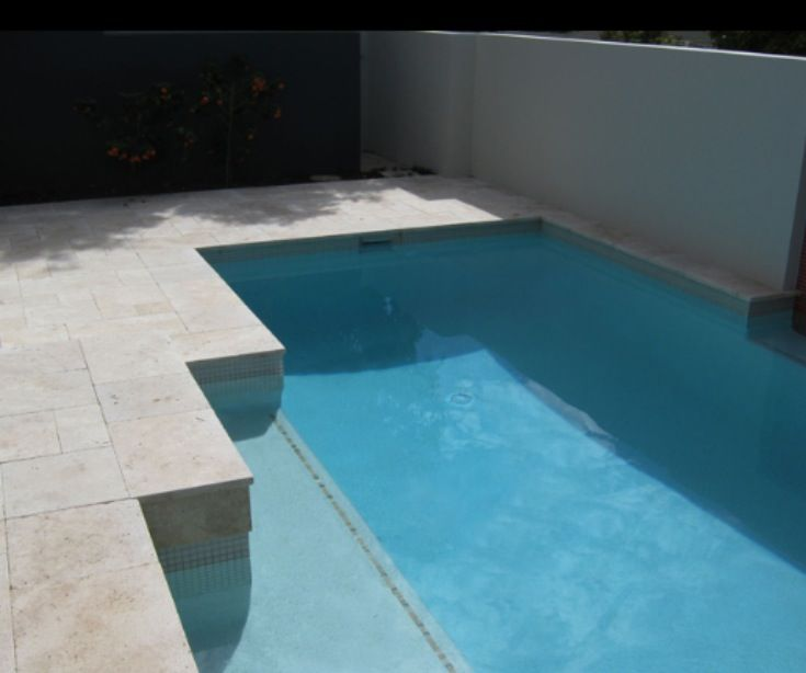 Ivory Travertine Unfilled Square Edge Pool Coping