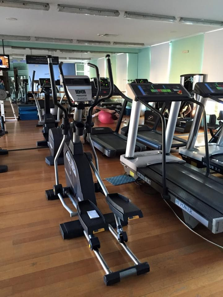 When the weather is cold, you can workout at our indoor #gym. #ThermaeSylla #Fitness