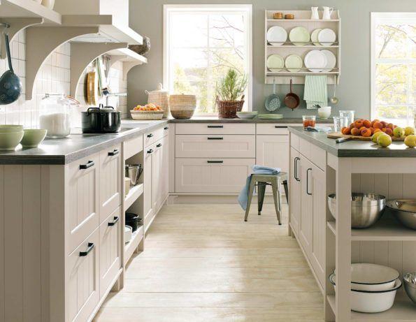 Landhausküche canto in creme von schüller landhausküche küche küchen landhausstil