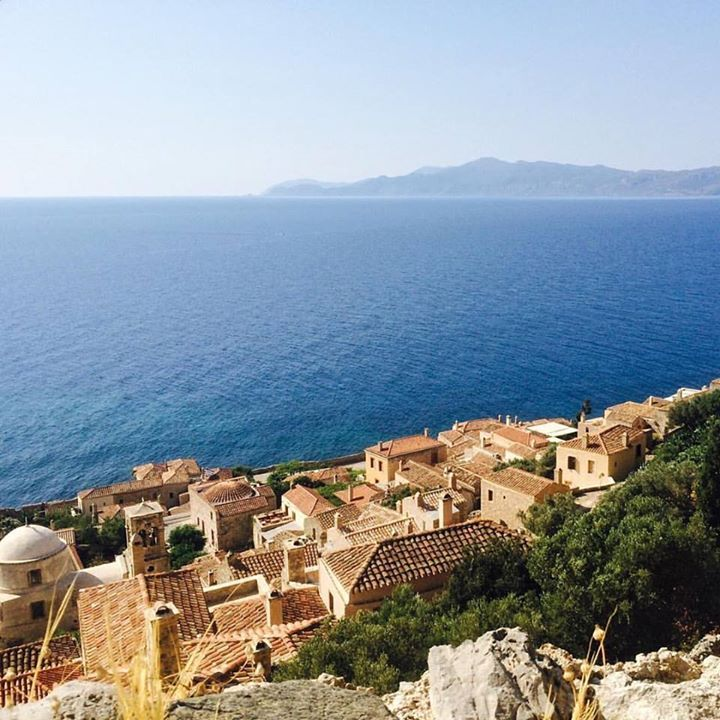 The hidden town and natural fortress of Monemvasia is an impressive and must-see site of the Peloponnese. The quaint streets of this fascinating rocky island  are full of history  full of influences from Frankish Ottoman Venetian and Byzantine empires. #breathtaking #ancient #Peloponnese #history #travel #monemvasia #greece #sealife #vsco #iphone #passionpassport #beautifuldestinations #travelphotography #instagreece #handofgreece