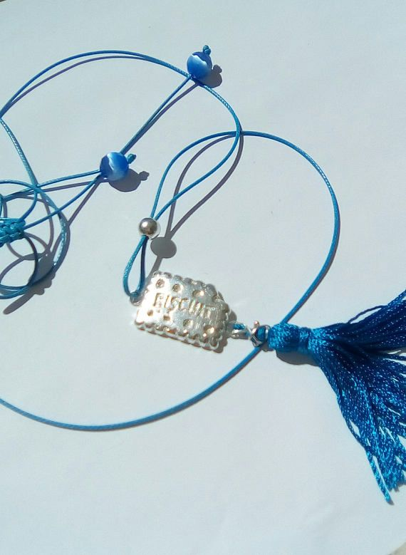 Sterling silver biscuit necklace Love biscuit necklace