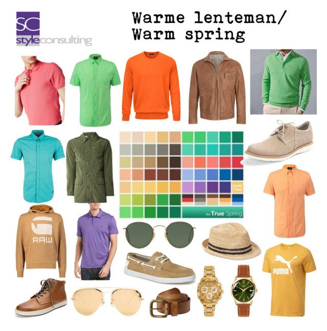 """""""Warme lentetype (man). Warm spring, seasonal color analysis for men."""" Margriet Roorda-Faber, Style Consulting."""