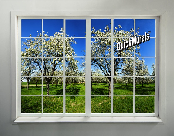 Orchard Window Peel Amp Stick Wall Mural Themuralstore Woodland Forest And