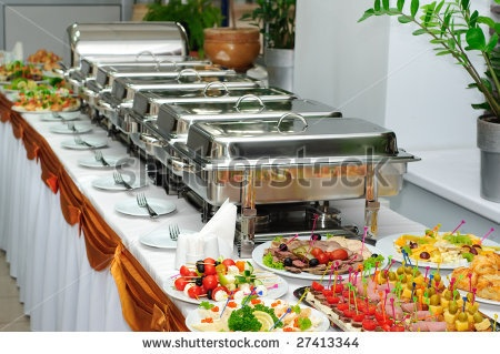 Buffet Tip: Do not forget a small plate to place your serving utensils on. A Salad/Dessert plate size is an excellent size
