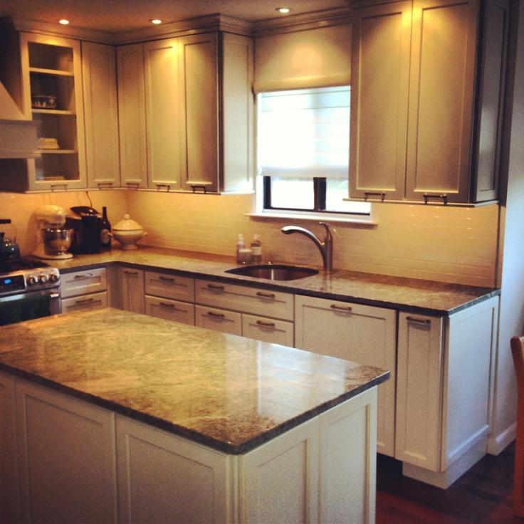 KraftMaid Vanilla Bean Glaze Cabinets With Formica Countertops And  KitchenAid White Appliances. | Soft White Kitchens | Pinterest | Formica  Countertops, ...