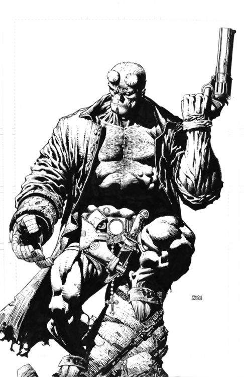 Hellboy by David Finch. Check out Pete's review of Andy Schmidt's The Insider's Guide To Creating Comics and Graphic Novels here: http://chaptersandscenes.wordpress.com/2014/03/16/pete-reviews-the-insiders-guide-to-creating-comics-and-graphic-novels/